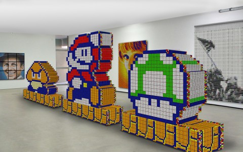 Super Mario Sculptures